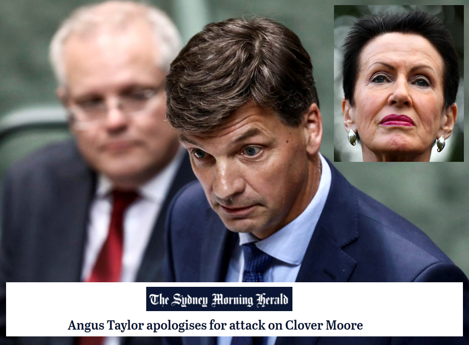 Angus Taylor and the very bad, not terribly good letter