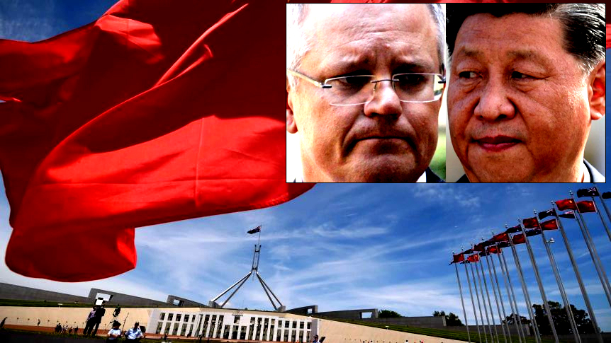 Morrison's China push feeds local QAnon theorists who say Satanists rule world